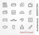 collection of travel and hotel... | Shutterstock .eps vector #300907394