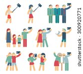 selfie figures of people.... | Shutterstock . vector #300920771