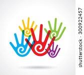 teamwork symbol. multicolored... | Shutterstock .eps vector #300922457