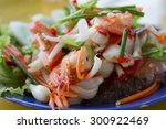 thai food  vermicelli salad and ... | Shutterstock . vector #300922469