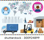 phases of printing production ... | Shutterstock .eps vector #300924899