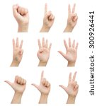 female hand sign set for count... | Shutterstock . vector #300926441