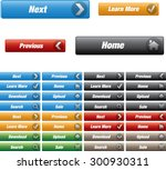 web buttons with various color  ... | Shutterstock .eps vector #300930311