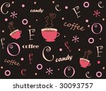 funny background with coffe cup | Shutterstock . vector #30093757
