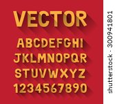 vector alphabet set  long... | Shutterstock .eps vector #300941801