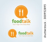food talk vector logo template | Shutterstock .eps vector #300952895