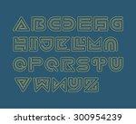 snake stripe font set. outlined | Shutterstock .eps vector #300954239