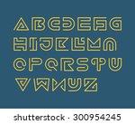 snake stripe font set. regular | Shutterstock .eps vector #300954245