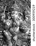 hindu god ganesh black and... | Shutterstock . vector #300959219