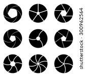 set of apertures in vector.... | Shutterstock .eps vector #300962564
