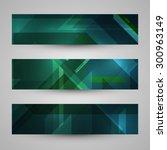set of banners  technology art... | Shutterstock . vector #300963149
