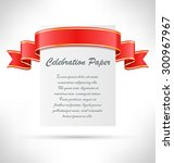 celebration paper card with... | Shutterstock . vector #300967967