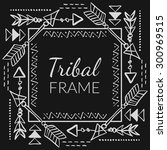 vector abstract tribal frame...   Shutterstock .eps vector #300969515