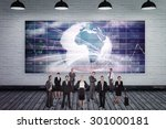 business team against grey room | Shutterstock . vector #301000181