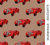 seamless pattern with retro... | Shutterstock .eps vector #301016975