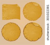 round frames or damaged... | Shutterstock .eps vector #301022381