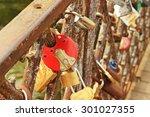 various locks | Shutterstock . vector #301027355