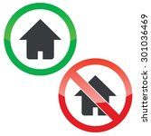 allowed and forbidden signs... | Shutterstock .eps vector #301036469