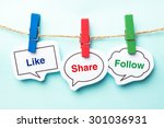like share follow bubble with... | Shutterstock . vector #301036931
