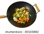 fresh sliced vegetables in wok... | Shutterstock . vector #30103882