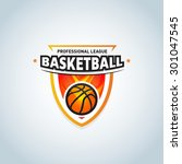 basketball logo template ... | Shutterstock .eps vector #301047545