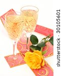 champagne and rose | Shutterstock . vector #30105601