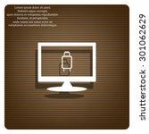 baggage icon. icon. vector... | Shutterstock .eps vector #301062629