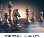 chess piece in focus on the... | Shutterstock . vector #301071599