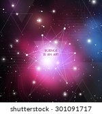 scientific design template with ... | Shutterstock .eps vector #301091717