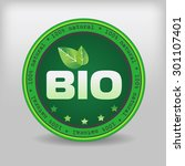 eco certification   bio... | Shutterstock .eps vector #301107401