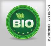 eco certification   bio... | Shutterstock .eps vector #301107401