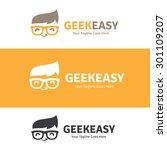 geek easy logo template | Shutterstock .eps vector #301109207