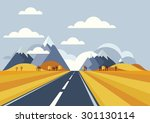 vector landscape background.... | Shutterstock .eps vector #301130114