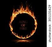 ring of fire | Shutterstock .eps vector #301131629