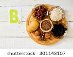 foods containing vitamin b 6 ... | Shutterstock . vector #301143107