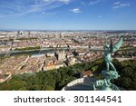 view of lyon from the top of... | Shutterstock . vector #301144541