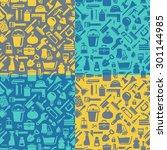 household pattern | Shutterstock .eps vector #301144985