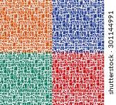 household pattern | Shutterstock .eps vector #301144991