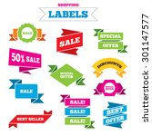 sale shopping labels. sale... | Shutterstock .eps vector #301147577
