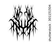 tribal tattoo vector design... | Shutterstock .eps vector #301151504