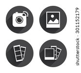 hipster photo camera icon.... | Shutterstock .eps vector #301152179