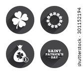 saint patrick day icons. money...   Shutterstock .eps vector #301152194