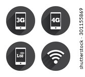 mobile telecommunications icons.... | Shutterstock .eps vector #301155869