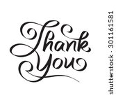 thank you hand lettering   text ...   Shutterstock .eps vector #301161581