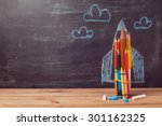 back to school background with... | Shutterstock . vector #301162325