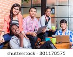 group of diversity college... | Shutterstock . vector #301170575
