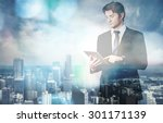 suit  think  background. | Shutterstock . vector #301171139