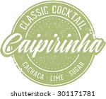 vintage classic cocktail... | Shutterstock .eps vector #301171781