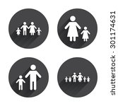 large family with children icon.... | Shutterstock .eps vector #301174631