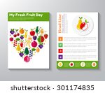 brochure flyer design vector... | Shutterstock .eps vector #301174835